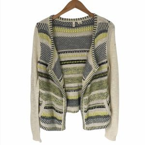 Anthropologie Moth | Open Cardigan Metallic Knit